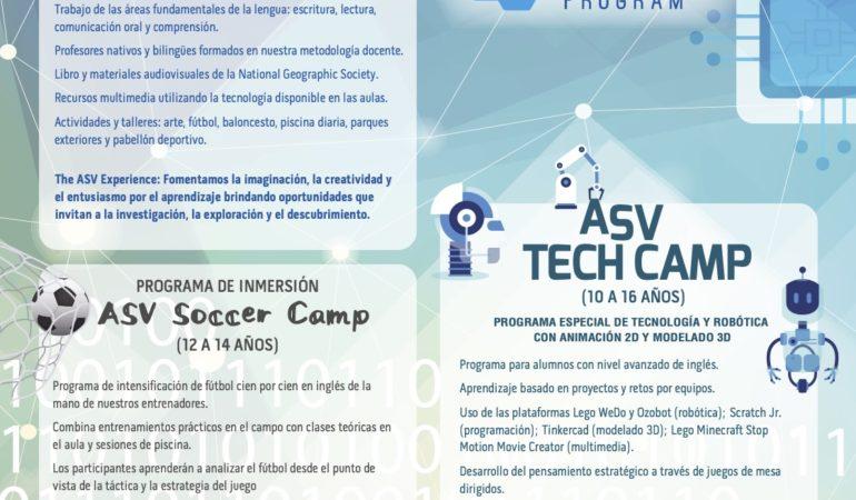 Lámina información Summer Program 2021